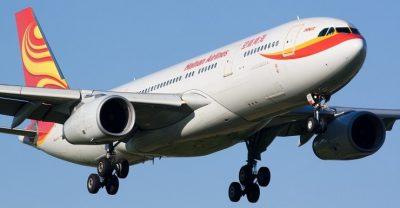 Hainan 787 plane flying from Edinburgh to china